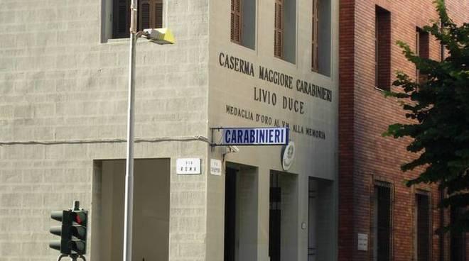 La caserma dei Carabinieri di Ventimiglia
