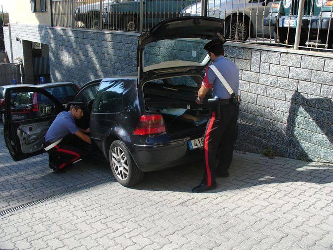 Carabinieri sequestro di hascisc