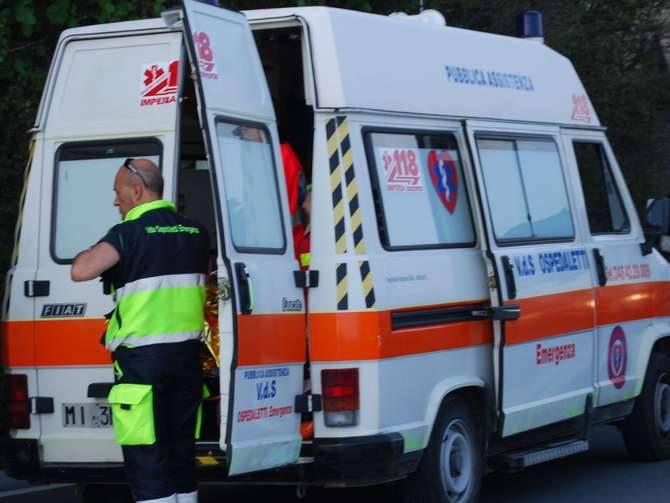 Incidente Capo Nero investita Vedetta Ospedaletti Emergenza