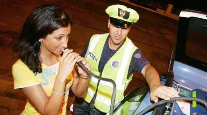 Etilometro alcol test polizia stradale