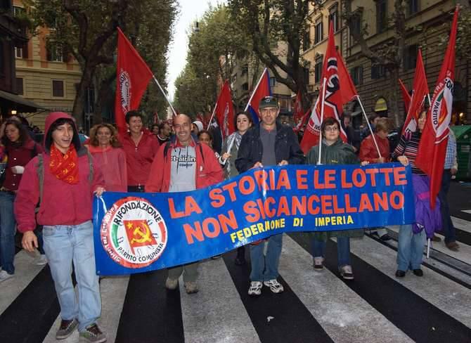 manifestazione roma 16 ottobre imperiesi rifondazione comunista