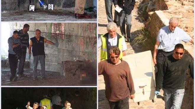 Omicidio morto clochard foce torrente San Francesco Sanremo 20 maggio 2011 (Simoncelli)