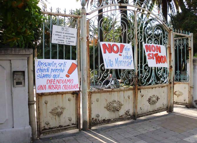 Protesta San Martino Sanremo Villa Mercede