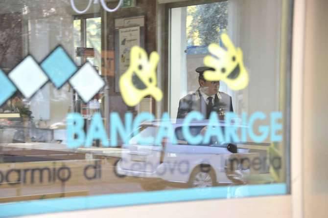 Rapina Banca Carige San Bartolomeo al mare