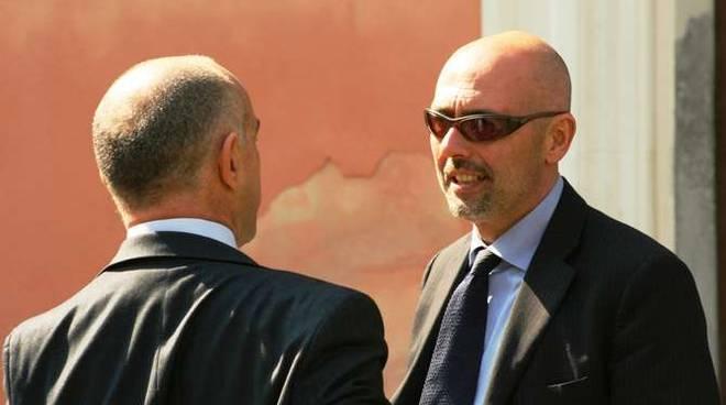 Il PM Alessandro Bogliolo parla con Mager (di spalle)