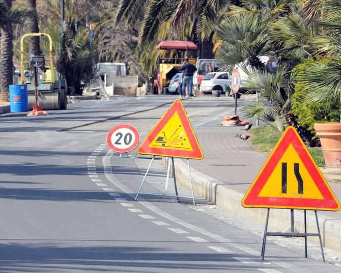 Traffico Sanremo lavori asfaltatura cantiere stradale