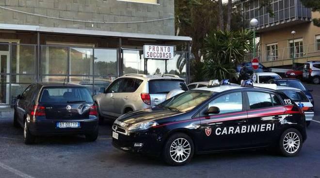 Carabinieri ospedale Imperia Caltagirone ricoverato