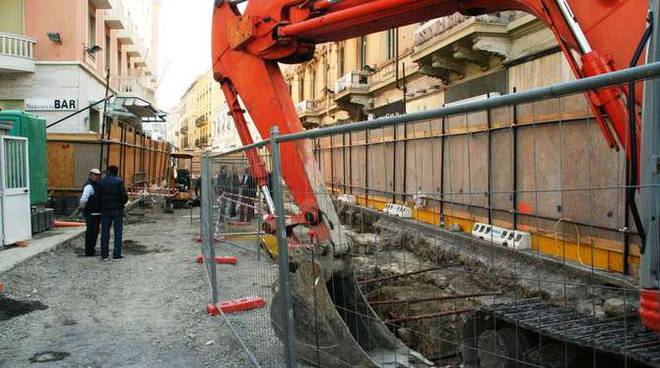 scavi ritrovamento archeologico via matteotti sanremo lavori hotel nazionale
