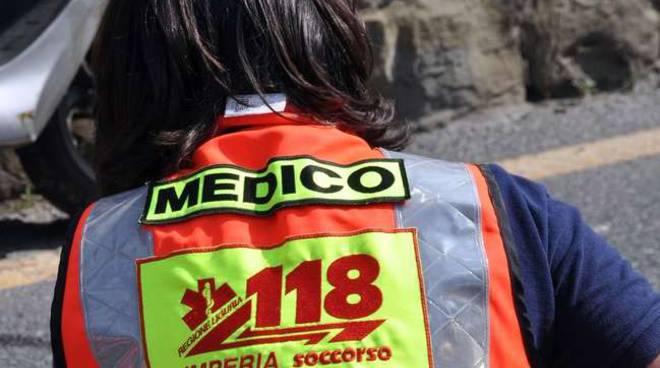 Collage Incidente corso Mazzini Bussana scooter automedica generica 118