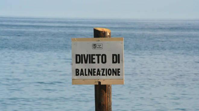 divieto di balneazione sanremo antenna maggio 2012