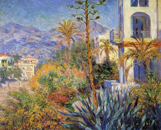 Villa Bordighera in dipinto Monet