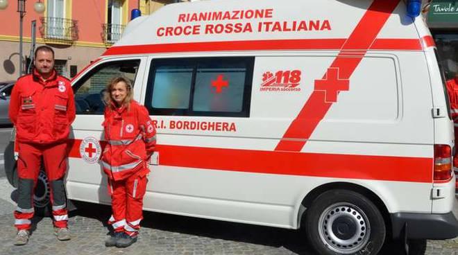 I volontari della Croce Rossa di Bordighera