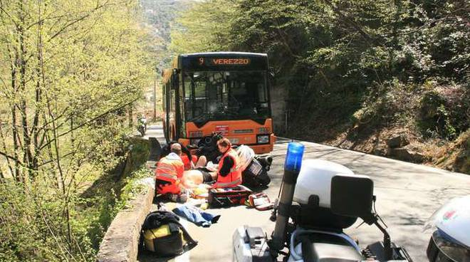 Incidente Verezzo scooter autobus