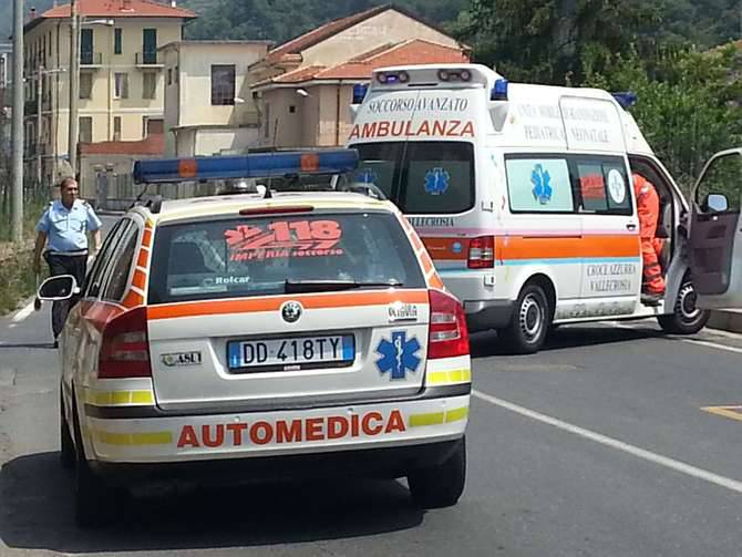 Incidente scooter auto Vallecrosia via Roma