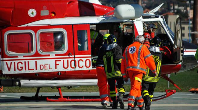 incidente ciclista pantasina elicottero san lazzaro imperia 23/2/14