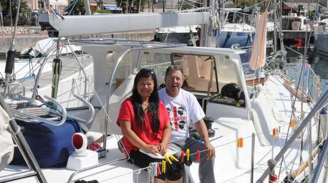 Roberto Gaziello barca a avela Sanremo Caraibi