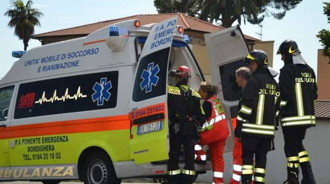 incidente lavoro via pasteur bordighera