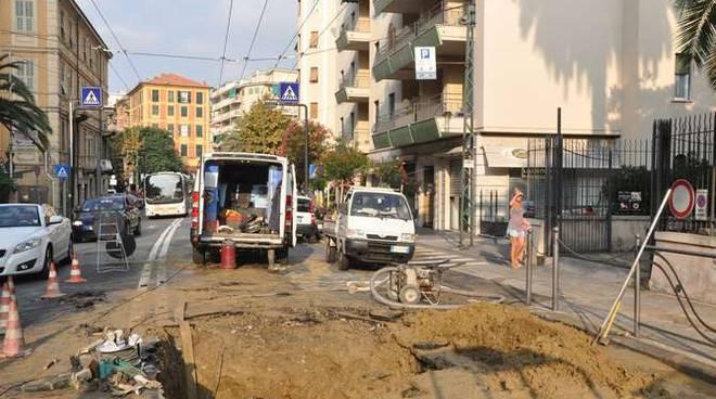 Guasto tubo rotto San Martino Sanremo 31 agosto 2014