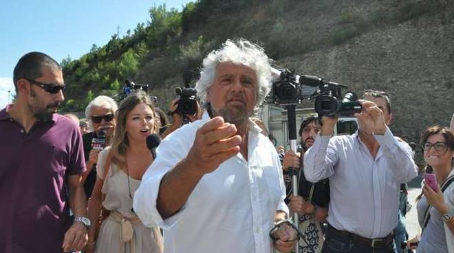 Beppe Grillo 12 settembre Collette Ozotto discarica