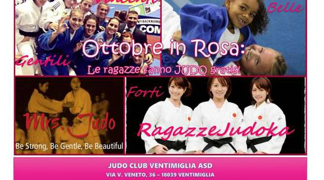 judo ventimiglia ottobre in rosa
