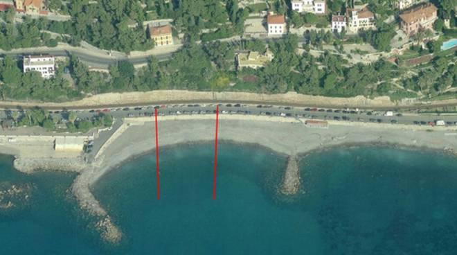 L'area di spiaggia del Pennello