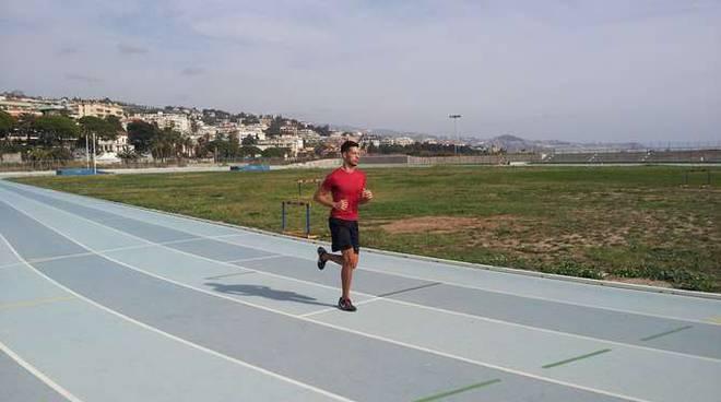 arrivo pista atletica