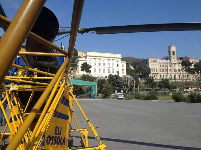 Triora elicottero in azione per ispezionare le linee - Enel richiesta interramento linea ...