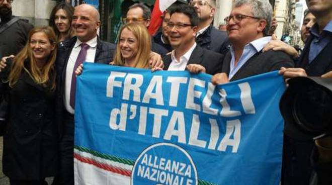 presentazione dei candidati di Fratelli d'Italia-AN
