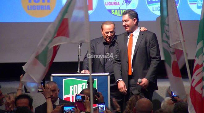 Berlusconi e Toti a Genova