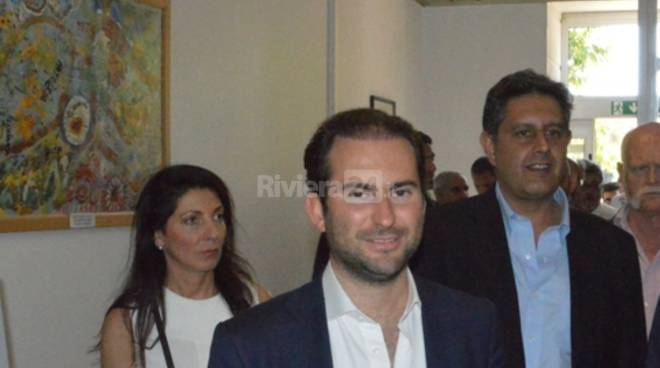 Filippo Bistolfi ospedale bordighera con Toti