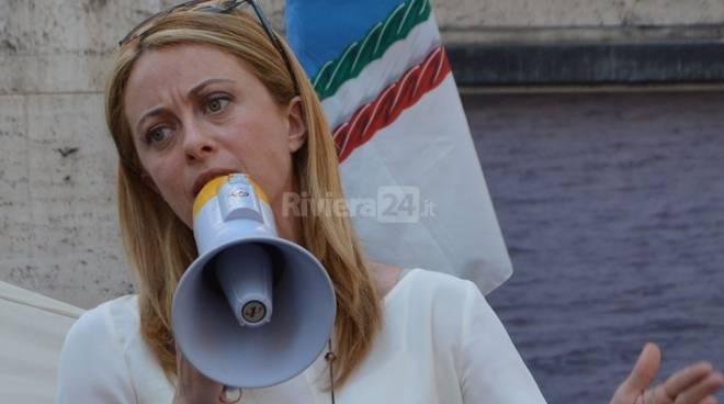 Giorgia Meloni a Sanremo