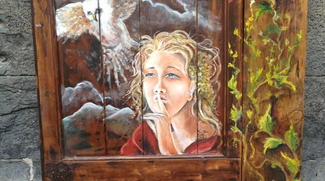 pittura per le vie del borgo