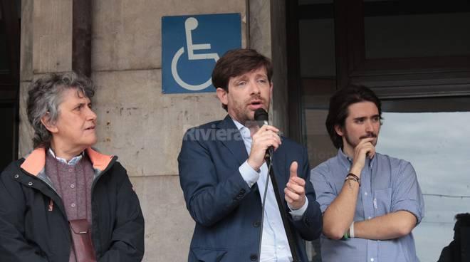 Rete a Sinistra manifestazione a Ventimiglia con Ovadia e Civati