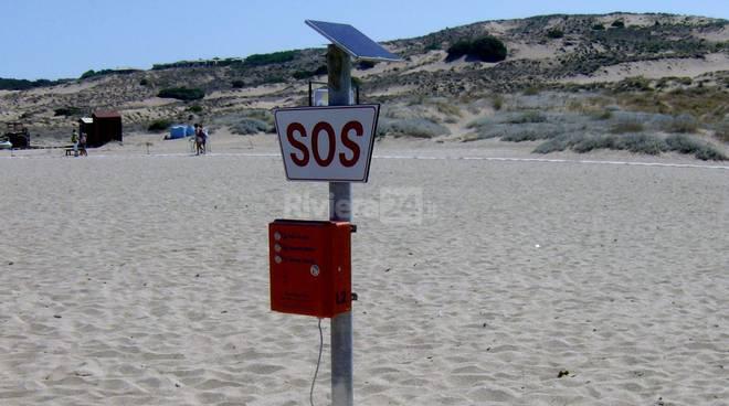 colonnine sos spiaggia