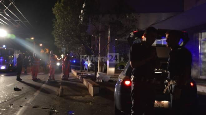incidente mortale gabriele sabattini 115 118 notturna 113 sanremo