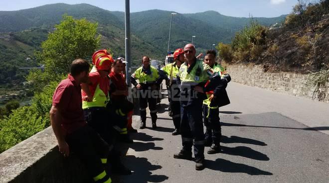 Secondo intervento vigili del fuoco incendio San Giacomo