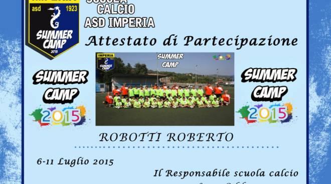 summer camp imperia calcio 2015