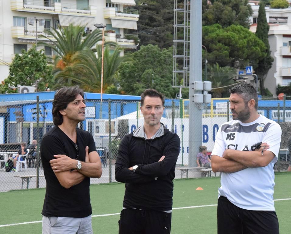 Allenamento a Pian di Poma per la Sanremese, in preparazione del match di Coppa Italia