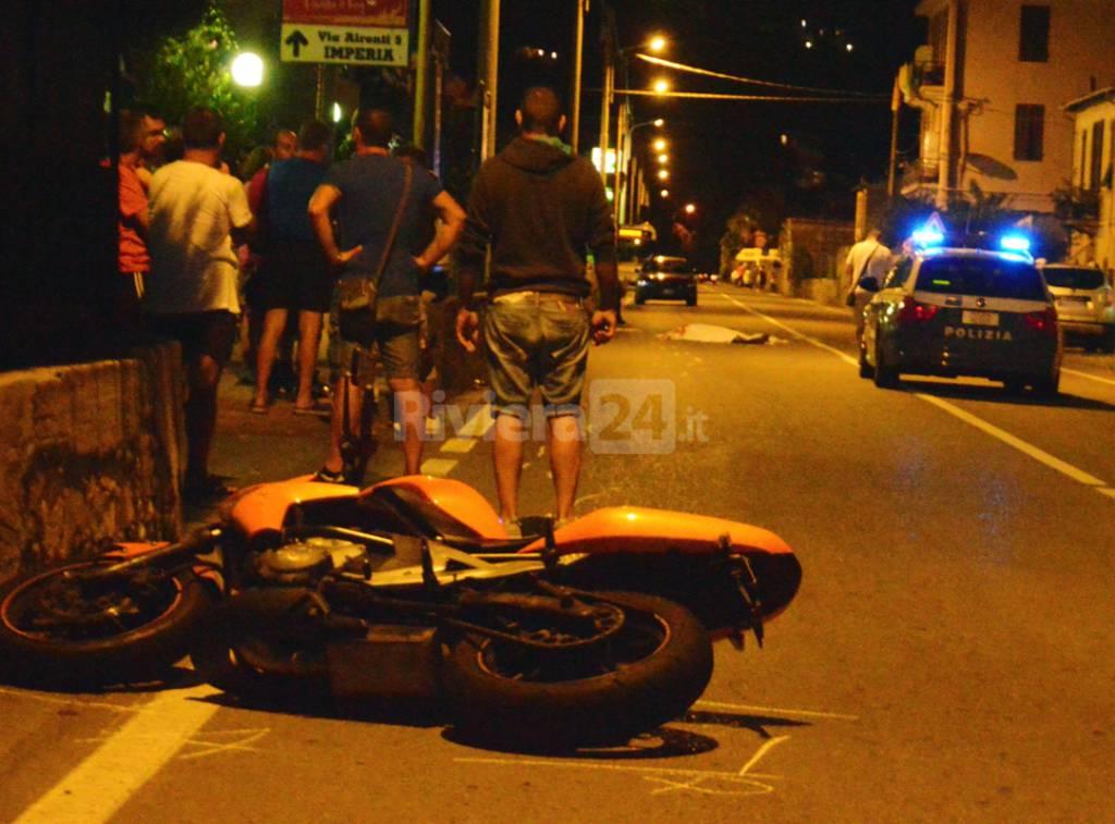 mortale riva ligure agosto 2015 moto 113 salvatore sabia