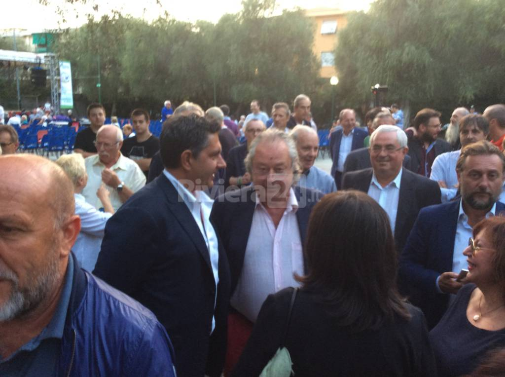 Toti e Maroni a Bordighera 2015