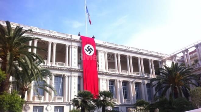 bandiera nazista comune di nizza
