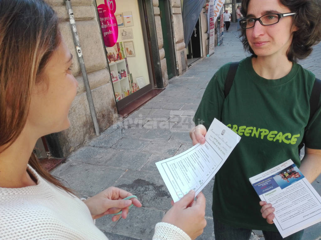 greenpeace a genova 26 settembre 2015