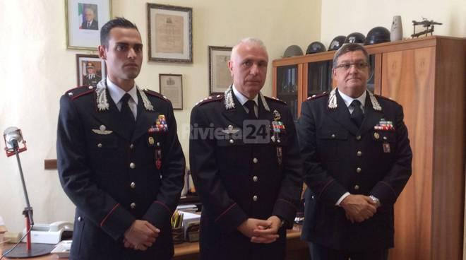 Ventimiglia, presentazione del Tenente dei Carabinieri De Tommaso