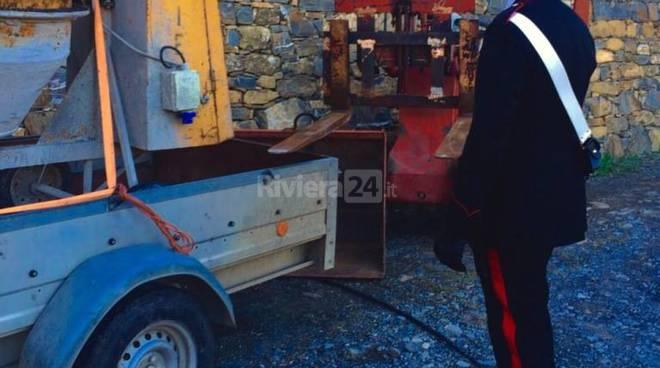 Carabinieri dolcedo indagine furti cantieri