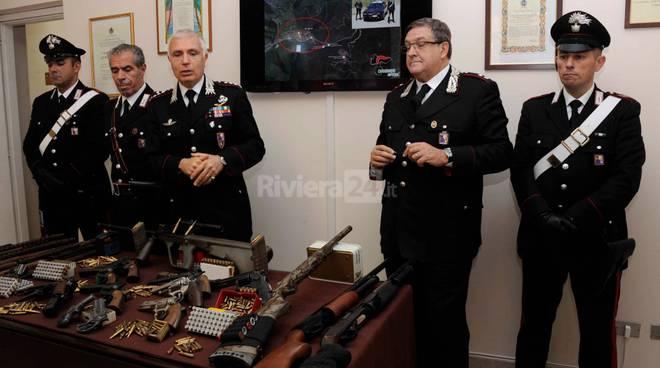 Pigna, rinvenuto un arsenale dai carabinieri