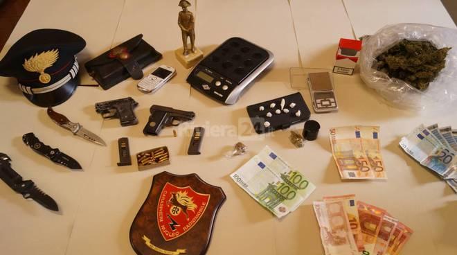droga contanti carabinieri ventimiglia