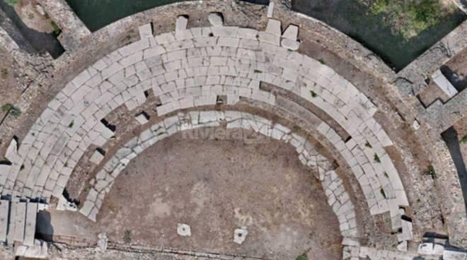 lavori di restauro del primo lotto del Teatro Romano