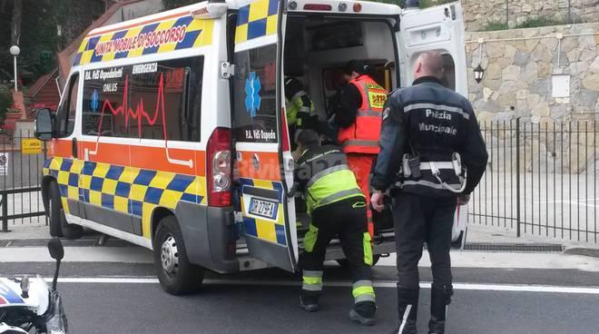 incidente moto ospedaletti emergenza 118 soccorsi