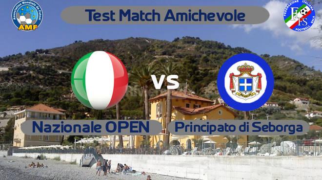 Amichevole Nazionale Open vs Principato di Seborga football sala