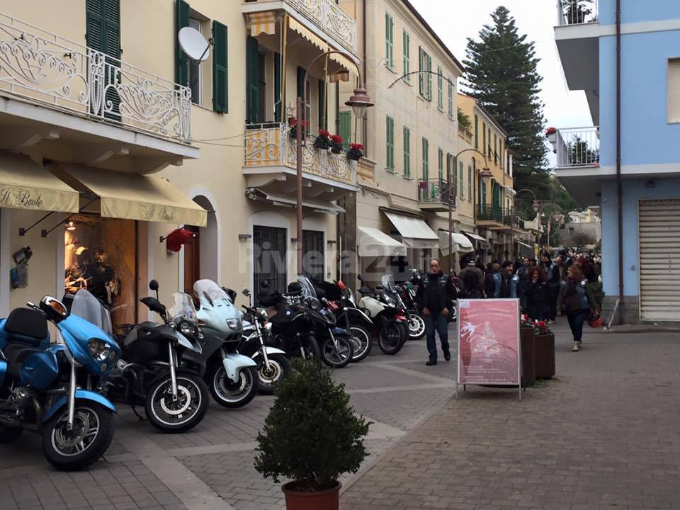 Arma di Taggia invasa dai centauri per il brindisi di inizio anno con il Moto Club Valle Argentina